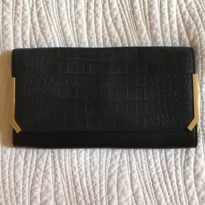 Vince Camuto Mae Leather Black Clutch